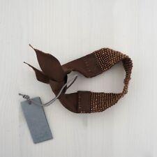 HOF115: COS Armband cuff band perlenkette braun / Ribbon beads bracelet brown