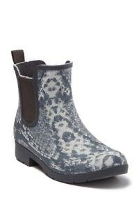 Chooka Women Sz 6 Waterproof Eastlake Chelsea Rain Boot Gray