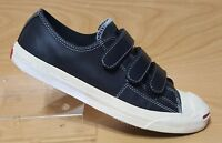 Jack Purcell Converse Black Low Top Leather Sneakers 10.5