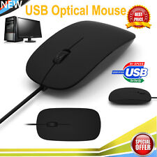 USB Wired Optical Scroll Mouse Mice For PC Computer Laptop Windows XP 7 8 10