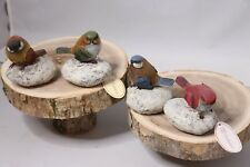 "Collections Stone Small Bird on Rock - 3"" Tall"