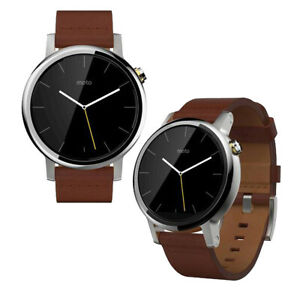 Motorola 2nd Gen Moto 360 42mm Men's Smartwatch (Silver with Cognac Leather)