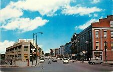 Lockport Ny~East Main Street~Genesee Beer Billboard~Rexall~Masonic Temple~1950s