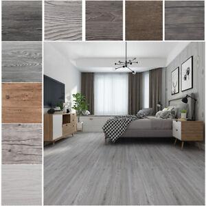 Planks Washed Oak/Grey PVC Flooring Planks Tiles Self Stick Peek Floor 36 Pieces