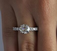 1 Ct Shared Prong Round Cut Diamond Engagement Ring SI2 H White Gold 14k