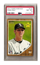 Chris Sale 2011 Topps Heritage #214 RC Rookie Card PSA NM/MT 8 Chicago White Sox