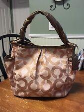 Coach Op Art Bronze Rose Gold Parker 13508 Hobo Shoulder Bag