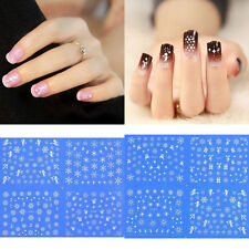 Sheet of Snowflake Nail Decals/Stickers-Easy to Apply! Hundreds of Pieces-New!
