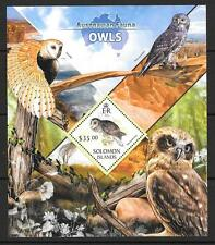 SOLOMON ISLANDS 2013 OWLS (2) MNH