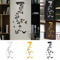 Mirror Flower Removable Wall Sticker Art Acrylic Mural Decal Wall Home Decor New