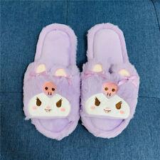 kuromi purple warm indoor slippers shoes slipper shoe unisex gift sweet gift
