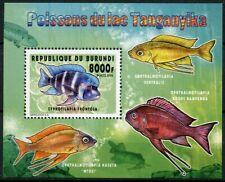 Burundi 2014 MNH Fauna Fishes Lake Tanganyika 1v S/S I Fish Marine Stamps