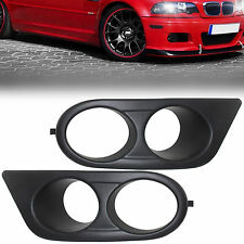 1pair NEW ABS Hamman Style Air Duct Fog Light Cover For BMW E46 M3 2001-2006