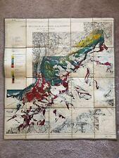 Map 1928 Jungfrau Bernese Swiss Alps Wolf Maync Carte Geologique Collet Parejas