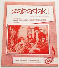 Partition sheet music DAVE DEE DOZY BEAKY MICK & TICH : Zabadak ! * 60's