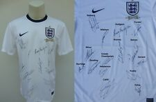 2013-14 England Home Shirt Signed by 15 inc. Rooney & Gerrard (8844)