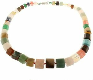 Women's Stunning Agate Gemstone Chunky Necklace for Women and Girls