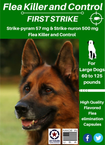 All in one Flea killer and control for Large Dogs 60 to 125 pounds 6 uses
