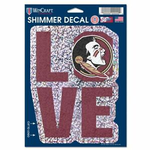 FLORIDA STATE SEMINOLES DECAL SHIMMER WITH HOLOGRAPHIC BACKGROUND 5 X 7 NEW