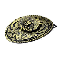 Fashion Cowboy Bronze Alloy Metal Buckle Indian Chief Western Belt Buckle