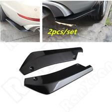2pcs Black Car Rear Bumper Fin Canard Splitter Diffuser Valence Spoiler Lip NEW