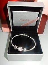 Auténtica Pandora Pulsera De Plata Moments 590702HV con Pandora encantos.