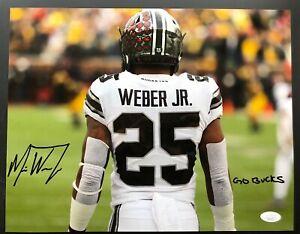 Mike Weber Signed 11x14 Ohio State Buckeyes ALT TUN Autograph JSA