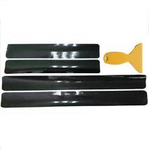 4Pcs Car Scuff Plate Door Sill Protector 5D Carbon Fiber Look Stickers Universal