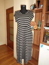 THE MASAI CLOTHING STRETCH JERSEY STRIPED SLEEVELESS EMPIRE KNEE DRESS-M