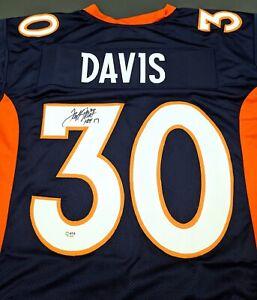 Terrell Davis Denver Broncos Autographed Signed Jersey XL COA