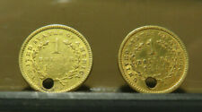 1851   PAIR OF   U.S. $1  GOLD COINS