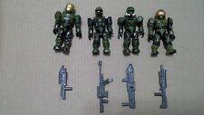 HALO 4-Figure UNSC SPARTAN UNIT Halo 3 armor permutations Mega Bloks L-1193D