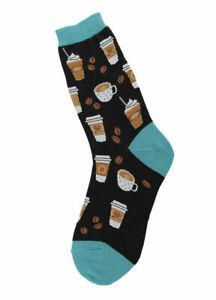 NEW Coffee Design Fun Novelty Womens Socks - Womens Shoe Size 4-10