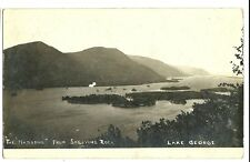 Real Photo The Narrows from Shelving Rock Lake George  New York NY Postcard