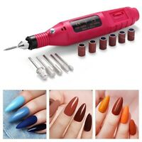 Electric Nail File Drill Portable Professional Manicure Pedicure Set Kit b Nice