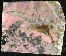 Australian RHODONITE slab… nice pink color & attractive black feather highlights