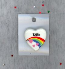 Rainbow & Hearts Fashion Pin Brooch Personalized TARA - Stocking Stuffer
