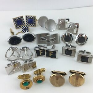 Vintage ALL SIGNED Cufflinks LOT Swank Hickok Hadley Gold Filled & more