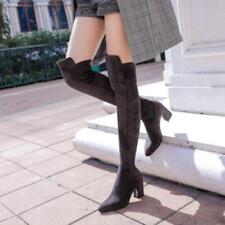 Overknee Stiefel Grau Wildleder günstig kaufen | eBay