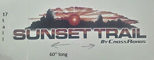 1XLG SUNSET TRAIL RV MOTORHOME CAMPER LOGO DECAL MULTI COLOR SCENE 60x17 GRAPHIC