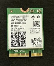 INTEL AX201NGW DUAL BAND Wi-Fi 5.0 AND 2.4GHZ + BLUETOOTH NETWORK CARD