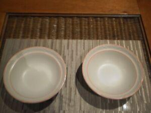 "SET OF 2  VINTAGE COUNTRY WARE GENUINE STONEWARE JAPAN ""PEACHWOOD"" SOUP BOWLS"