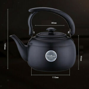 Stainless Steel Teapot Water Coffee Kettle Kitchen Picnic Metal 1000ml