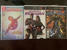 Invincible Iron Man 1,7 & 9 1,3& 2nd print Variant Lot 1st App of Riri Williams