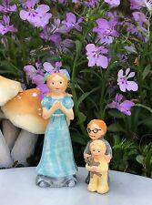 Miniature Dollhouse FAIRY GARDEN ~ NEVERLAND Darling Children Wendy John Michael