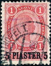 "AUSTRIAN LEVANT "" CONSTANTINOPEL I / ÖSTERR. POST"" date stamp on Mi.36 5 Piaster"