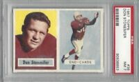 1957 Topps football card #38 Don Stonesifer, Chicago Cardinals graded PSA 7 NM