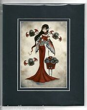 Amy Brown Matted Print Fairy Vampire Bite Me Halloween Kitchen Cupcake Candy BLK