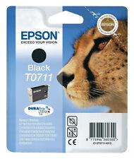 EPSON T0711 TINTE PATRONEN DX6000 DX6050 DX7000F DX7400 DX7450 DX8400 D92