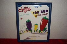 Chili's 4th Annual 10K Run & Cookoff Framed Art Sign May 6 1989 Scottish Rite